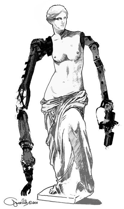 Depesha magazine_depesha_future_leonid gurevich_leon's escapades_illustration_art_venus the milo_women_robots_online