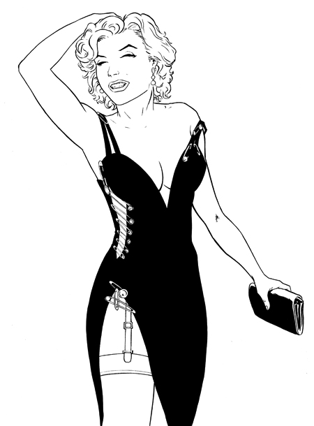 Marilyn Monroe Versace Safety Pin Dress by Fi Blog 450px