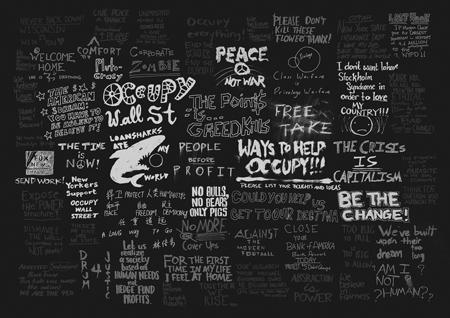 Matt Huynh Occupy Wall St Every Placard web Black450
