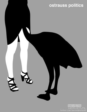 cartoon-satire-spotprent_dominique-strauss-kahn-ostrich-struisvogelpolitiek