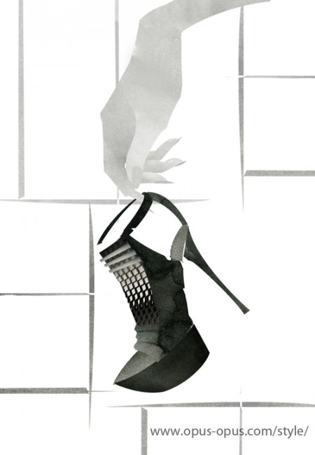 fashion illustration Black Shose
