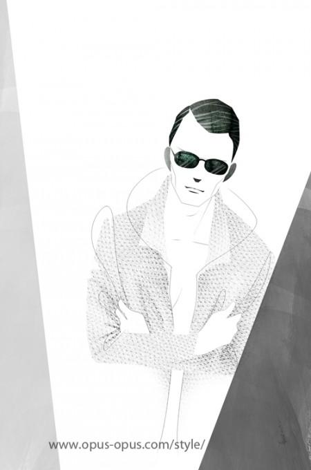 fashion illustration Mens Leather Jacket