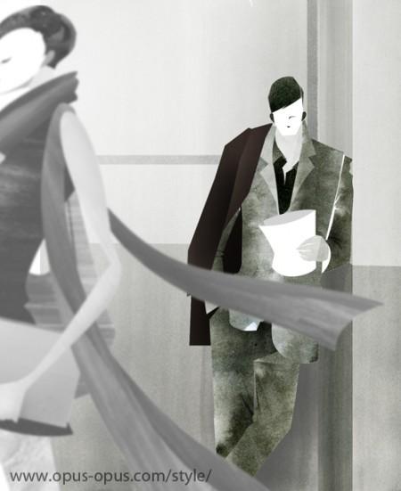 fashion illustration Mens Suit
