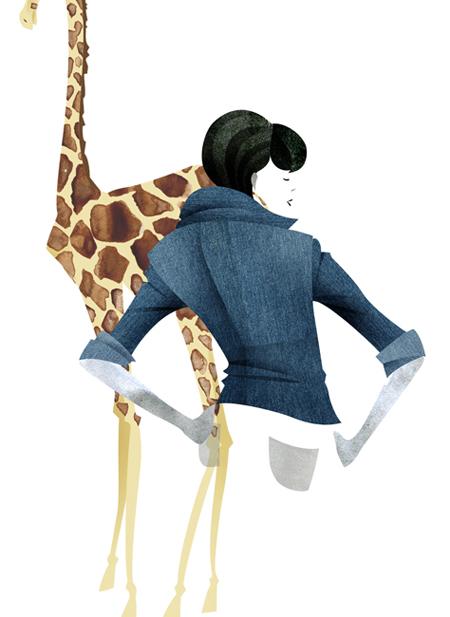 fashion illustration_animal denim
