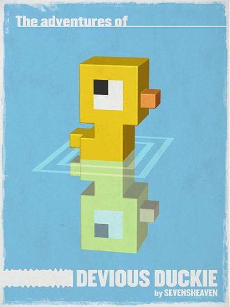 typographic-character-design_little-duckie-eendje-3d-pixels-voxels