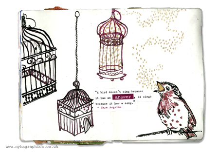 Naomi C Robinson's Sketchbook Project 2012