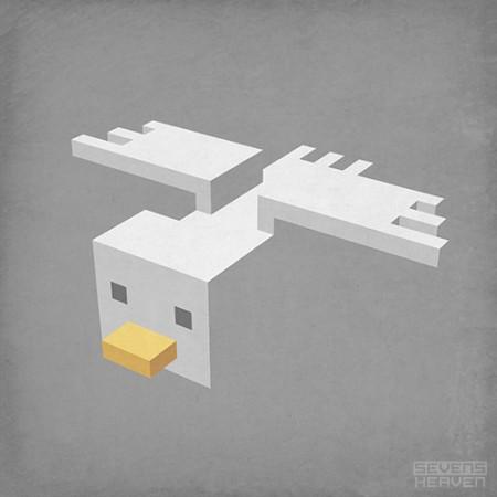 sevensheaven-3d-pixel-art-voxel-art_meeuw-seagull-bird