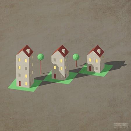 sevensheaven-art-illustration-illustratie_homes-houses-huizen-isometric