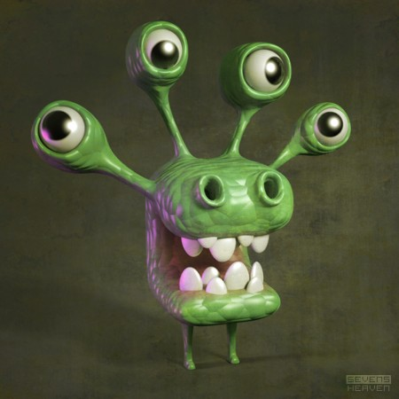 sevensheaven_character-design-karakter-ontwerp_green-groen-cartoony-monster