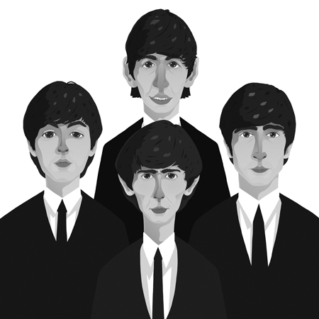 New Poster Up For Sale Black And White Giclee Print Of The Fab Four Looking Sharp