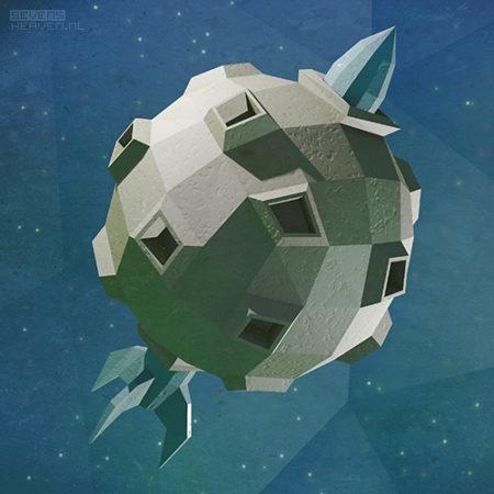 low-polygon-3d-artwork-illustration-illustratie_maan-moon-raket-rocket