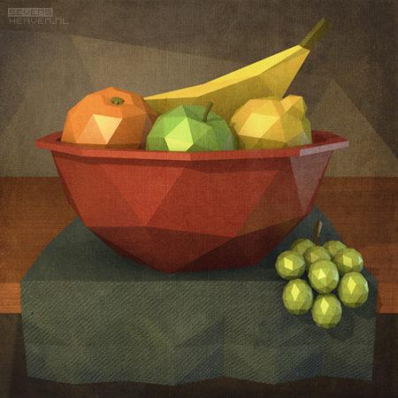 low-polygon-artwork_still-life-stilleven-fruit-basket-mand