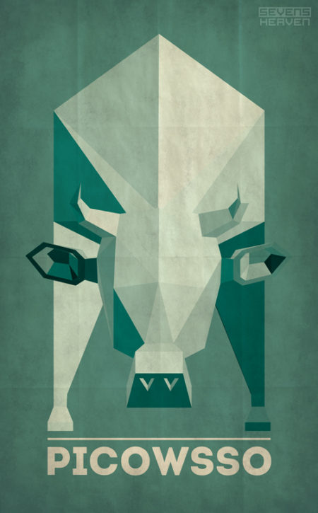 sevensheaven-nl_koe-cow-picasso-style-graphic-design-ontwerp
