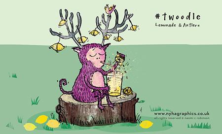 Twoodle Antlered Monster Making Lemonade