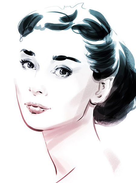 audrey-hepburn-by-christopher-kiing