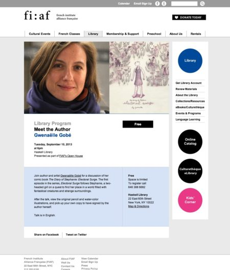 Meet the Author Gwenaëlle Gobé | FIAF