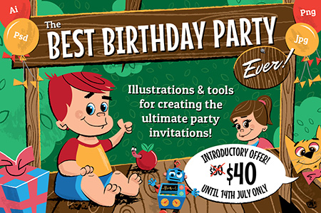 Childrens-birthday-Party-illustrations-and-invitations-1
