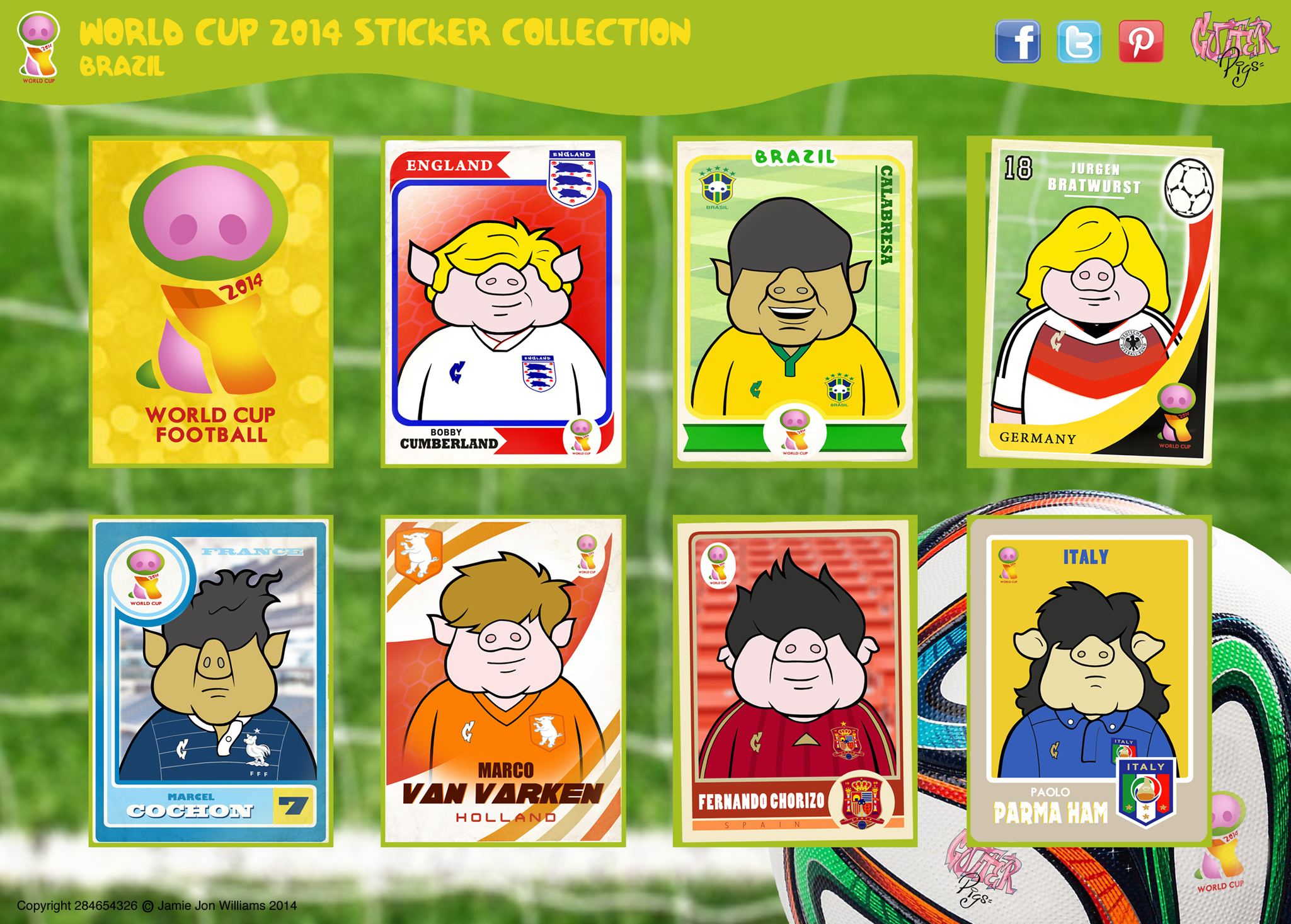 The Gutter Pigs World Cup Collection