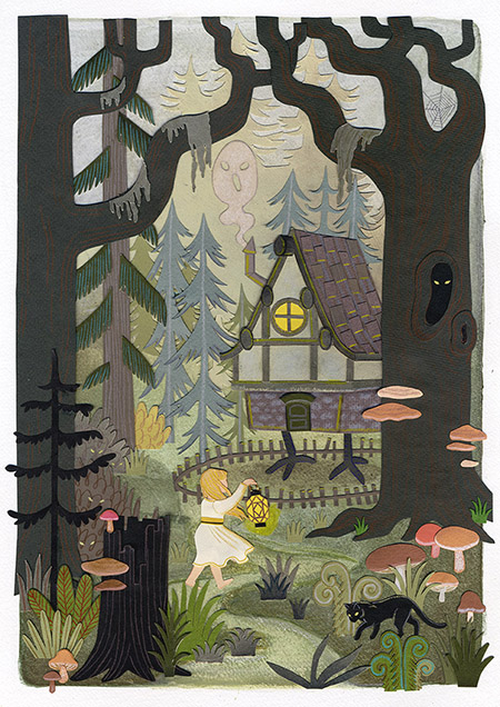 baba_yaga_fairytale_house_spooky_forest_woods_illustration