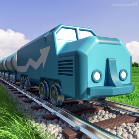 metin-seven_3d-artist-illustrations-illustraties_train-track-trein-nederland