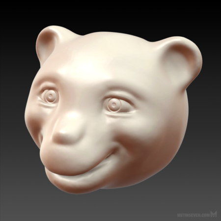 metin-seven_3d-print-modeler-toy-designer_bear-character-head