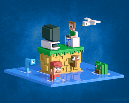 metin-seven_3d-pixel-art-voxels-retro-game-artwork-graphics